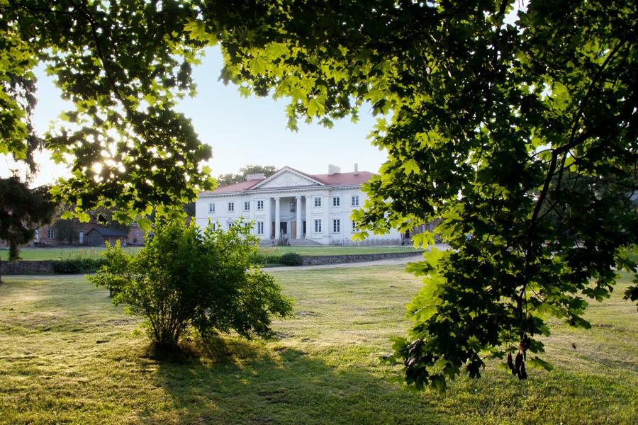 Pałac w Korczewie nad Bugiem. Zabytek do zwiedzania dostępny dla turystów.